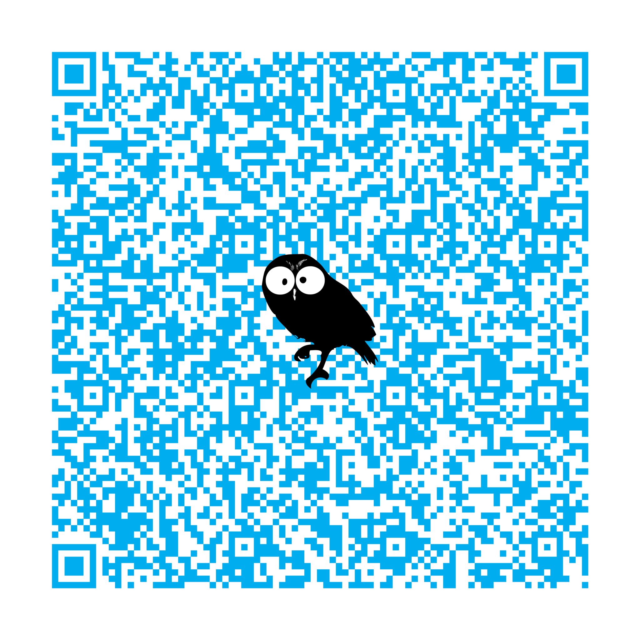 Scan this bad boy to instantly plug contact info into your smartphone. Go on, try it.
